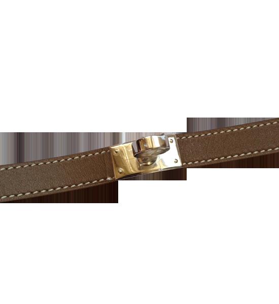 Bracelet Hermès Rivale Fauve