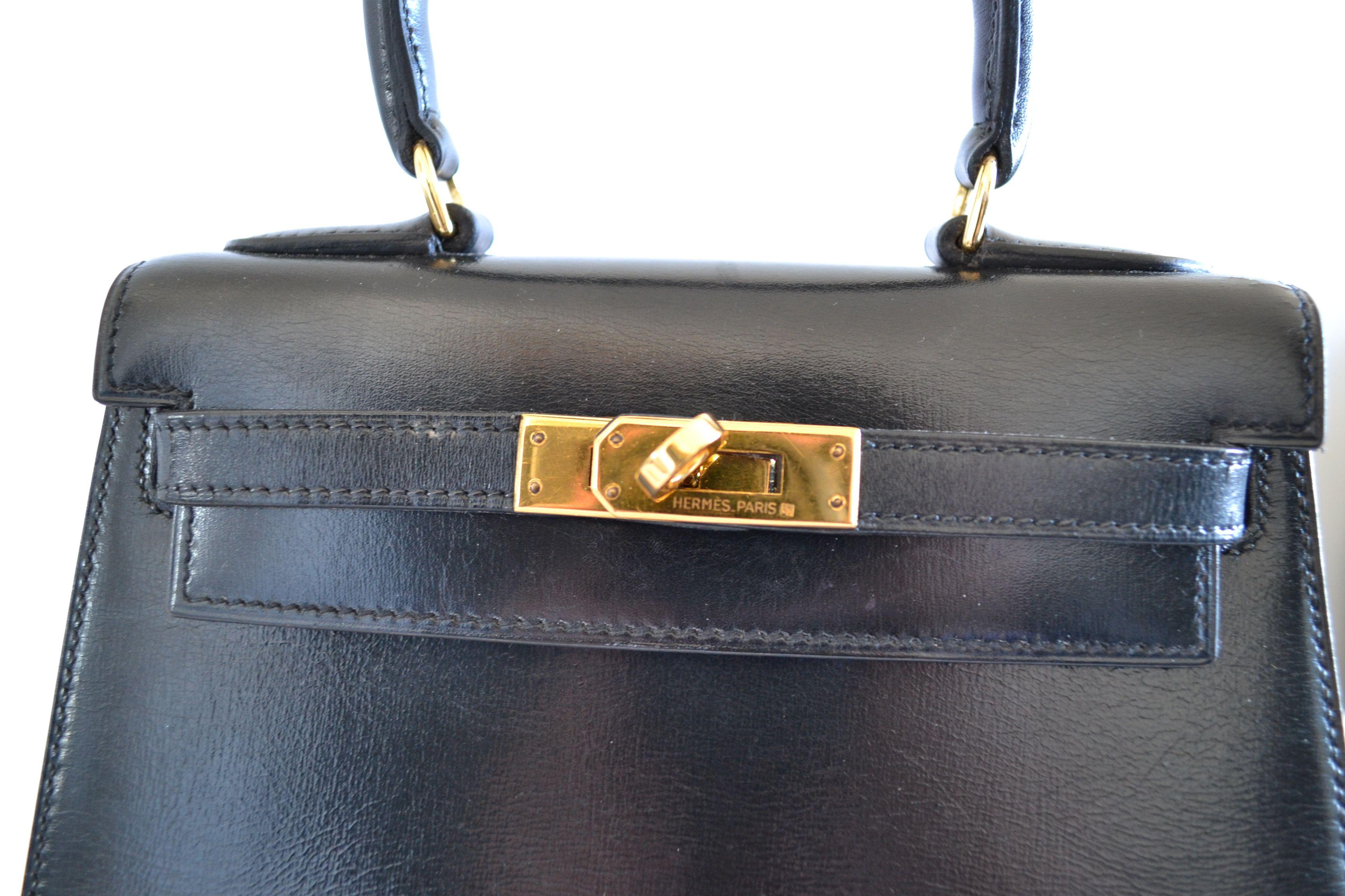 Sac Hermès  Kelly 20 Box noir
