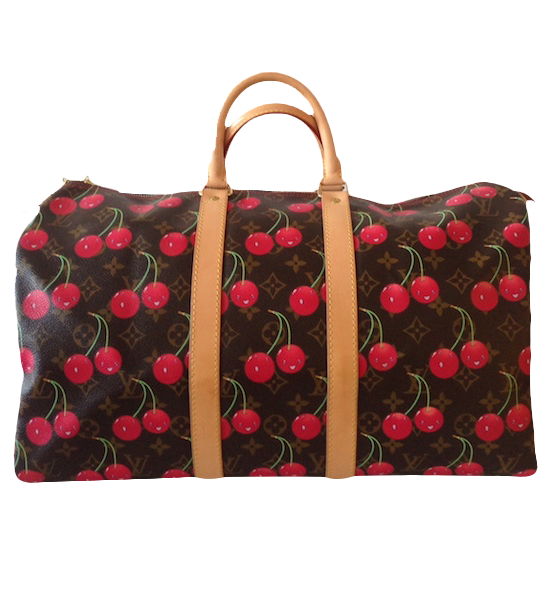 Sac Louis Vuitton Keepall collection Cerises par Takashi Murakami