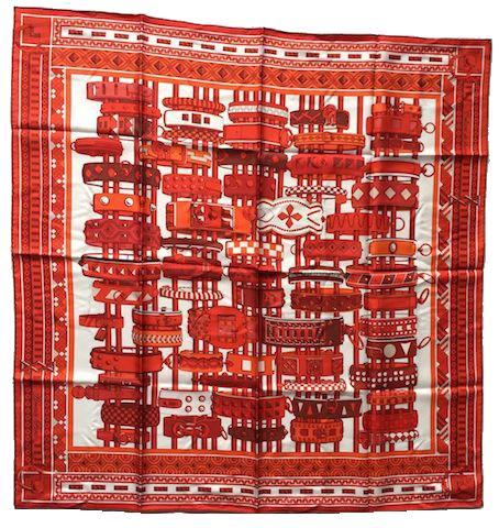 Hermès Carré de soie Collier de Chien
