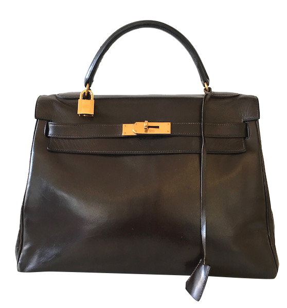 Sac Hermès Kelly 32 Box Ebène
