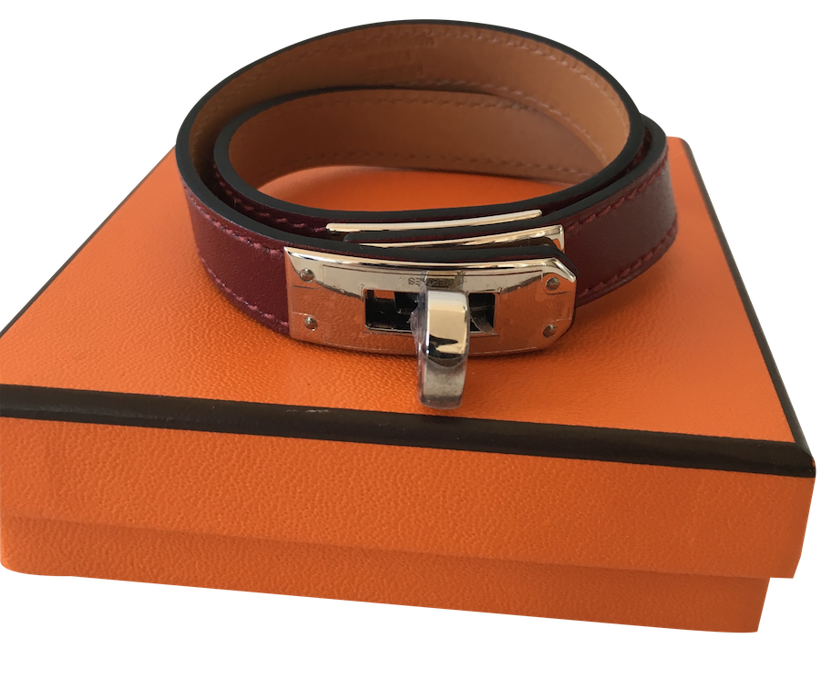 Bracelet Hermès Kelly Double Tour en Box Rouge H