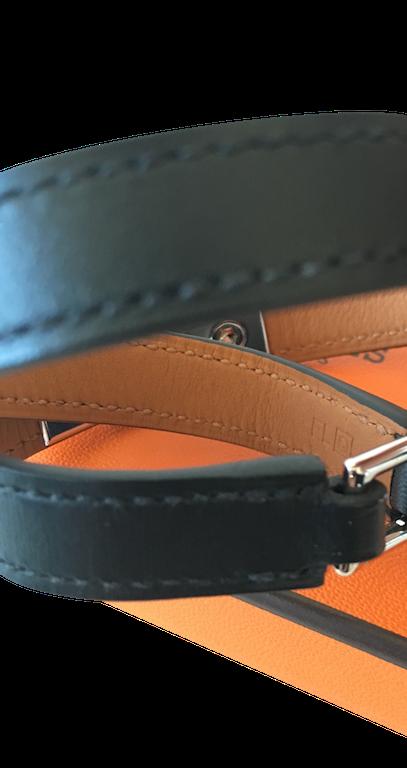 Bracelet Hermès Rivale Double Tour Box Etain