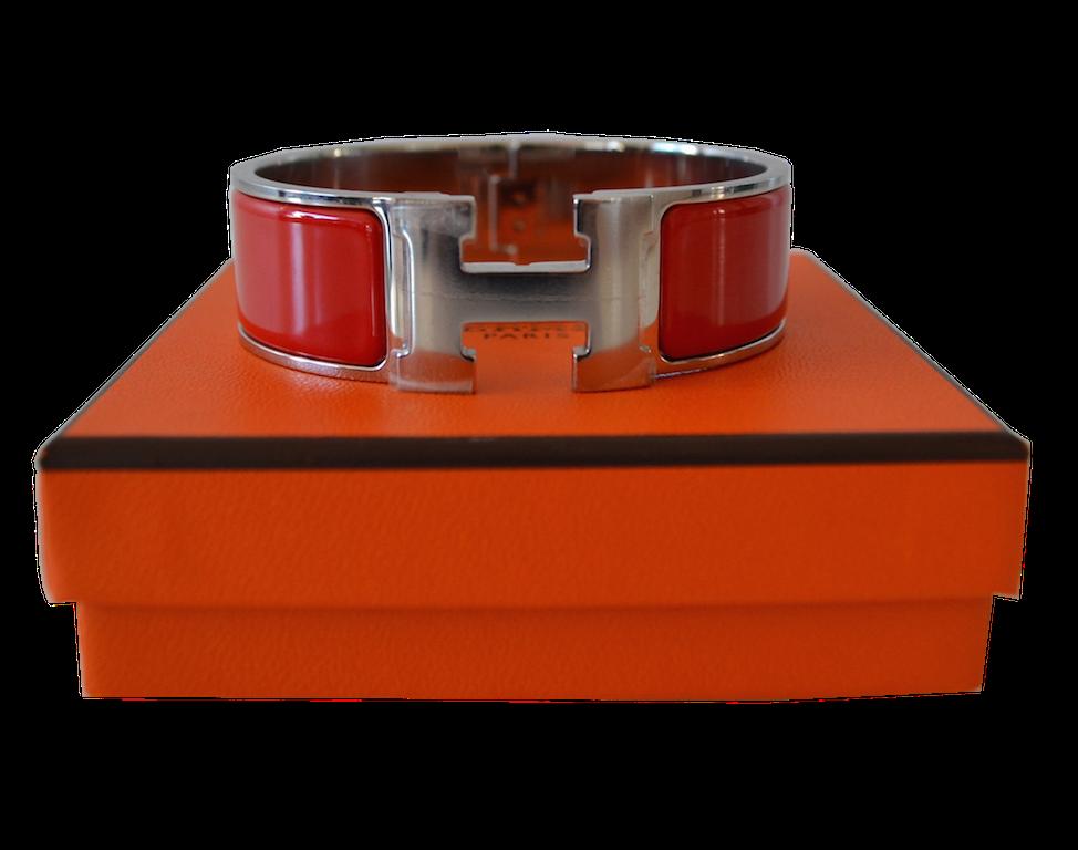 Bracelet Hermès modèle Clic H Rouge casaque