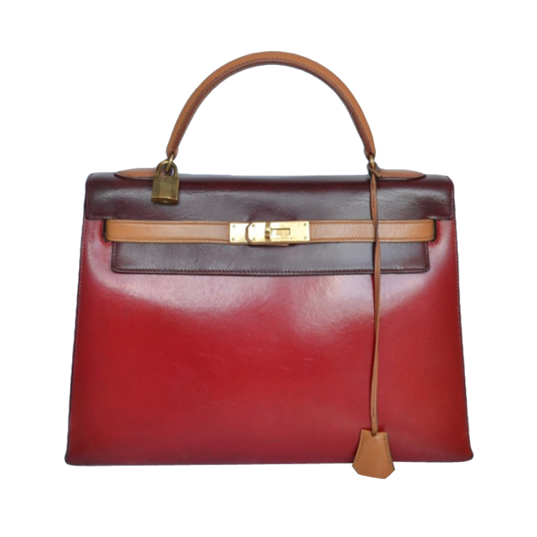 Hermès Kelly 32 Box Tricolore