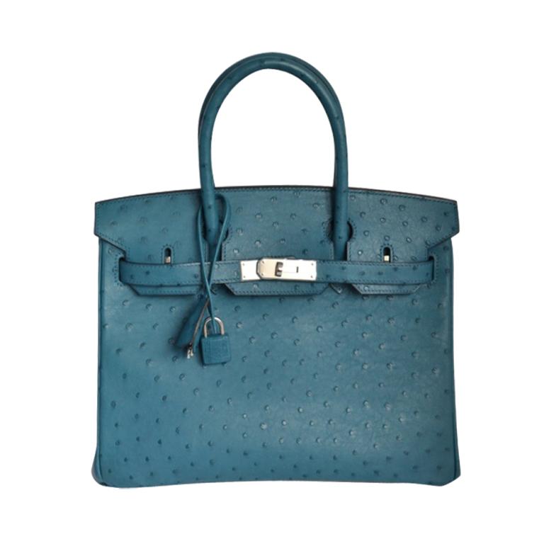 Hermès Birkin 30 Autruche Cobalt