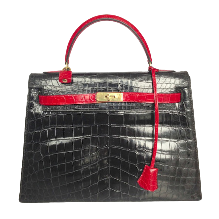 Hermès Kelly 32 Crocodile Bicolore Porosus