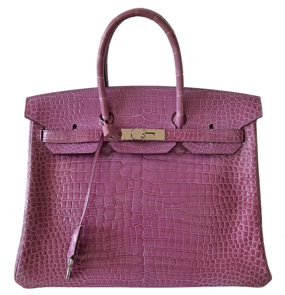 Hermès Birkin 35 Crocodile Porosus Violet