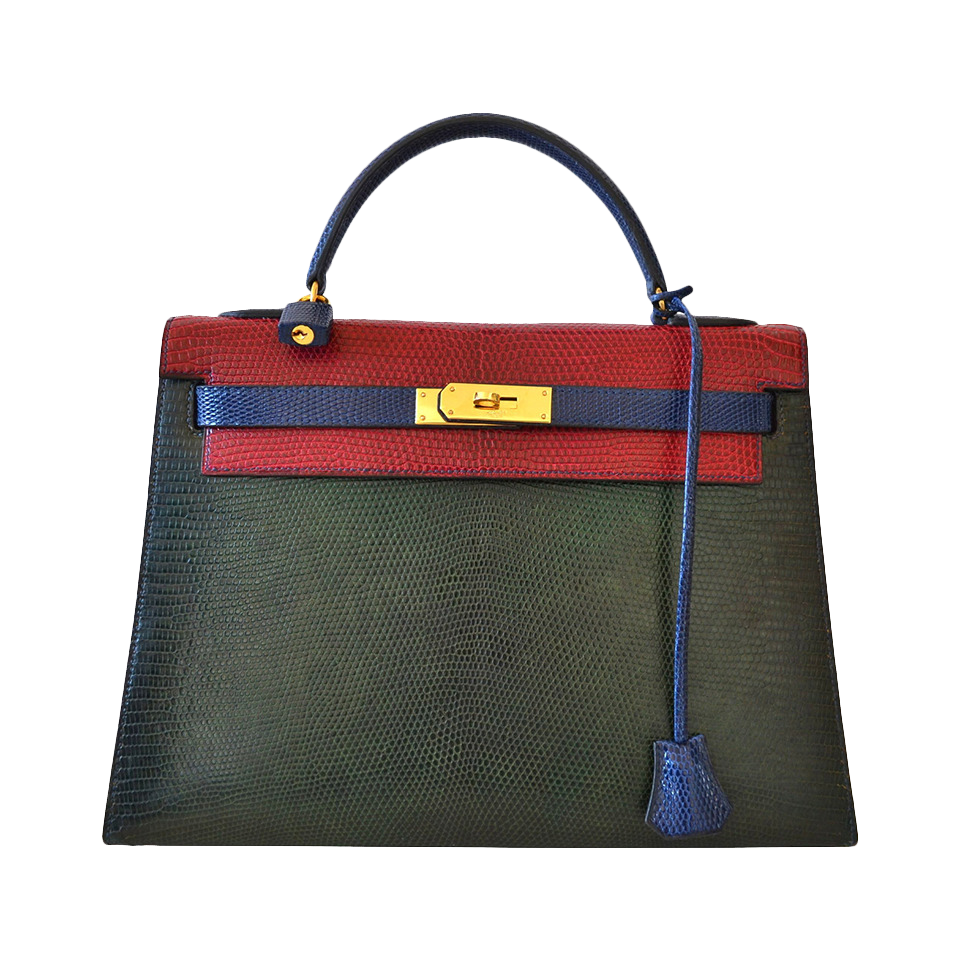 Hermès Kelly 32 Lézard Tricolore