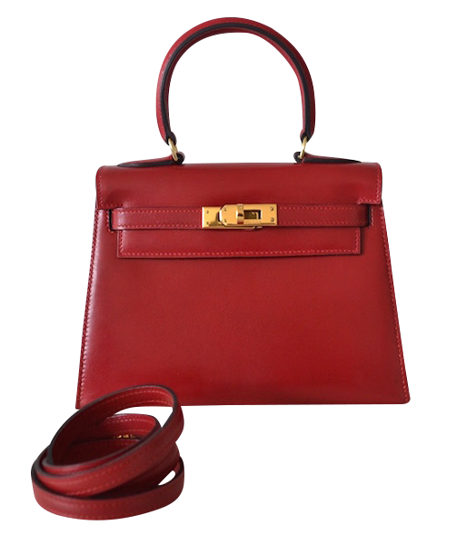 Hermes handbag Kelly 20 Box Rouge Vif
