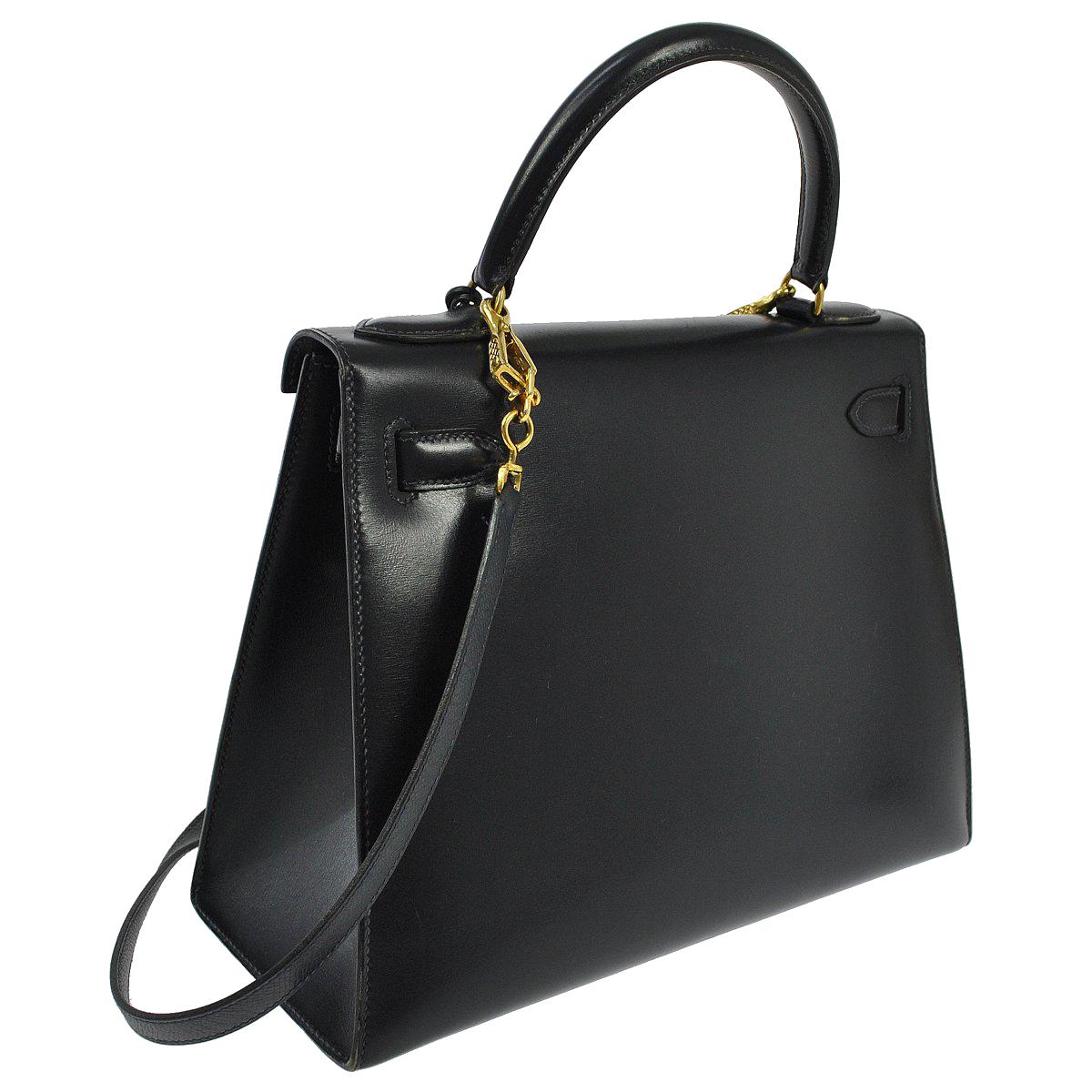 Sac Hermès Kelly 28 Sellier Noir