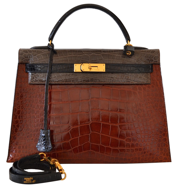4ea1ddc5e6 Sac Hermès Kelly 32 Tricolor en Alligator | MODE IN LUXE - French ...