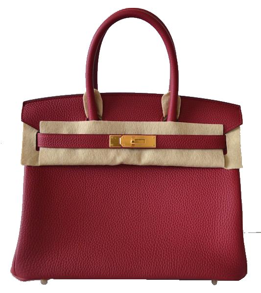 Sac Hermès Birkin 30 Grenat